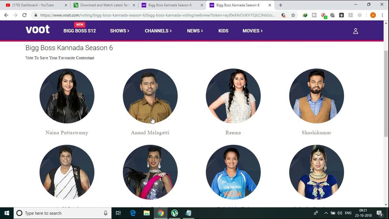 How To Vote In Voot App For Bigg Boss Season 6 Kannada 2018