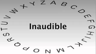 SAT Vocabulary Words and Definitions — Inaudible