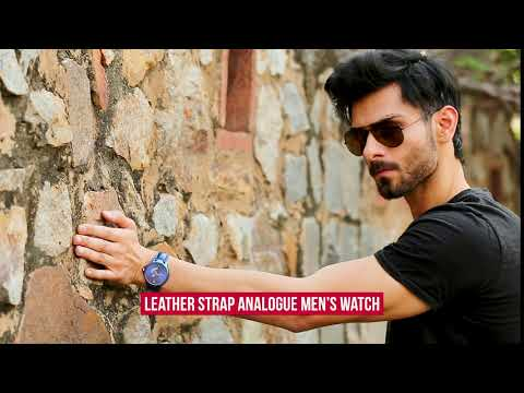 Designer Leather Analog Men's Watch