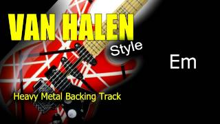 heavy metal van halen style guitar backing track 171 bpm highest quality
