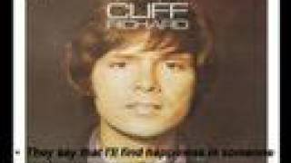 Top hit Love song : The Next Time by Cliff Richard