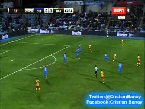 Getafe 0 Barcelona 2 (Relato Tito Puccetti) Copa del Rey 2014 Los goles de Messi (16/1/2014)