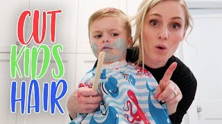 HOW TO CUT KIDS HAIR! (Wavy or Straight)
