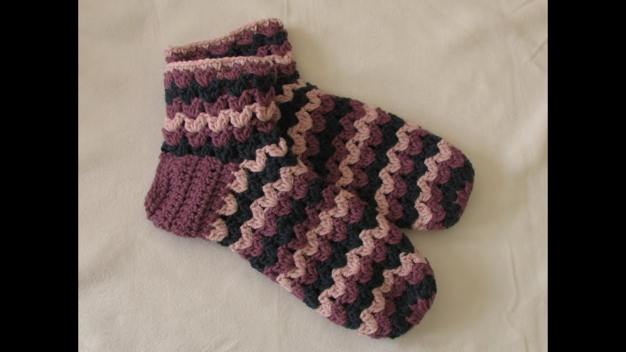 Very Easy Chunky Crochet Slipper Socks Tutorial Part 2 Youtube