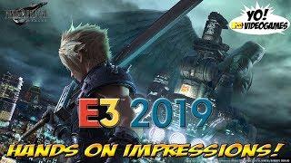 E3 2019 Hands On: Final Fantasy VII Remake! - YoVideogames