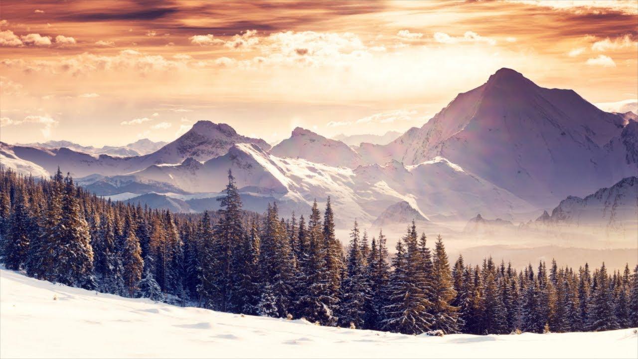 Beautiful Winter Scenes, Relaxing Music, Study Music, Meditation Music