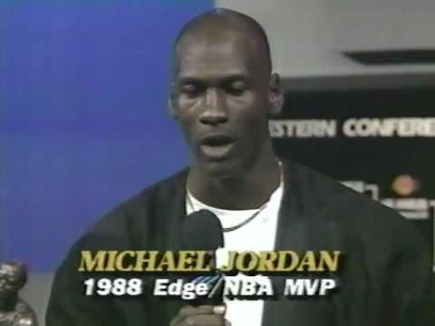 Michael Jordan - MVP Presentation 1988 - YouTube
