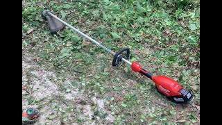 Milwuakee Brushless Cordless Weed Eater In Action!