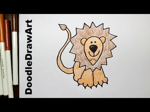 Drawing how to draw cartoon lion step by step easy youtube
