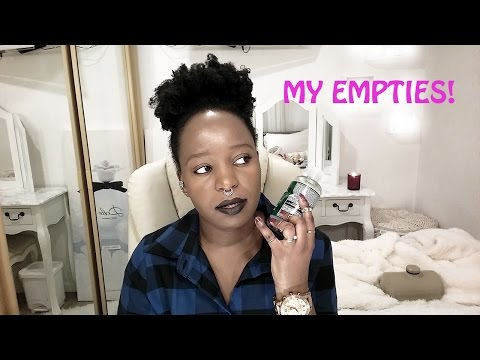 PRODUCT EMPTIES  BEAUTY, SKINCARE, HAIR ETC 2017