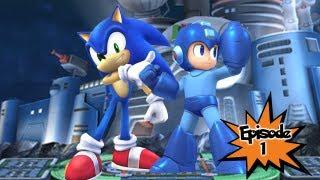 vuclip Yay Super Smash Bros!  Ep1 - Sonic & Mega Man