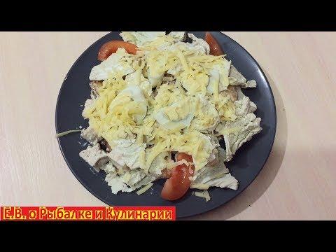 Как приготовить бюджетный супер вкусный салат Цезарь с курицей, который может позволить себе каждый.