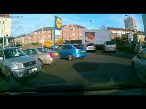 LIDL parking car crash London