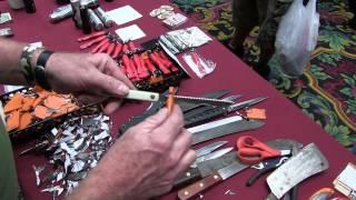 Tungsten Carbide Knife Sharpener Fits in Your Pocket!