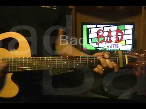 David Guetta Showtek Vassy BAD Quick Guitar Strumming Cover w Lesson Link & Lyrics EricBlackmonMusic