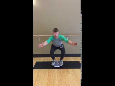 Balance Board Exercise #9: Squat