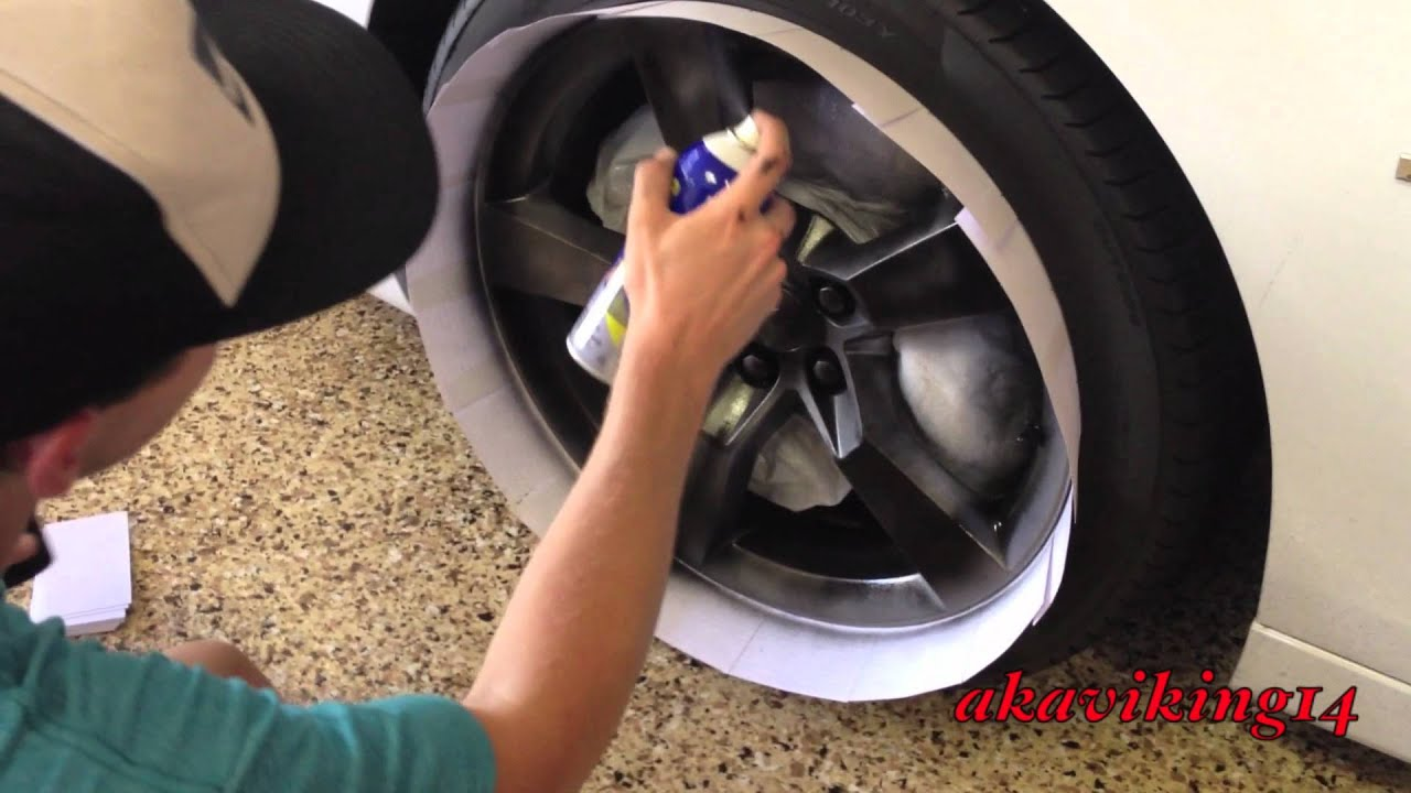 How To Plastidip Wheels Akaviking14 Youtube