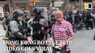 Hong Kong bottle flip video goes viral
