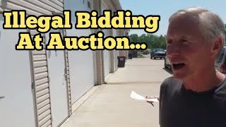 ILLEGAL BIDDING On Abandoned Storage Units At Locker Auction By Facility Owner / Real Storage Wars