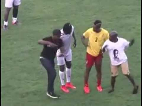 Gasmilla and Asamoah Gyan dance to Telemo at Appiah Farewell Match