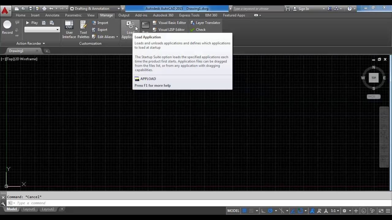 How to load Lisp in AutoCAD 2015