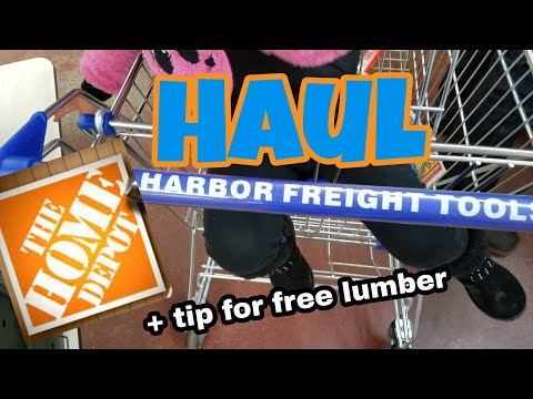 Haul | Harbor Freight and Home Depot + tip for free lumber