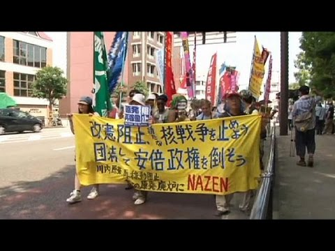 Nagasaki protesters' concern over Japan's pacifist constitution - no comment