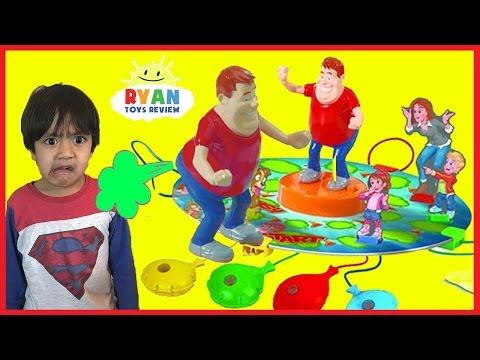 Thumbnail: WHO TOOTED Whoopie Cushion Farting gas game for Kids! Egg Surprise Toys with Ryan ToysReview