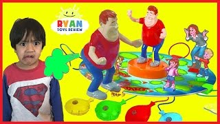 WHO TOOTED Whoopie Cushion Farting gas game for Kids! Egg Surprise Toys with Ryan ToysReview