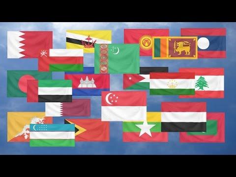 Flag Quiz, Asia.