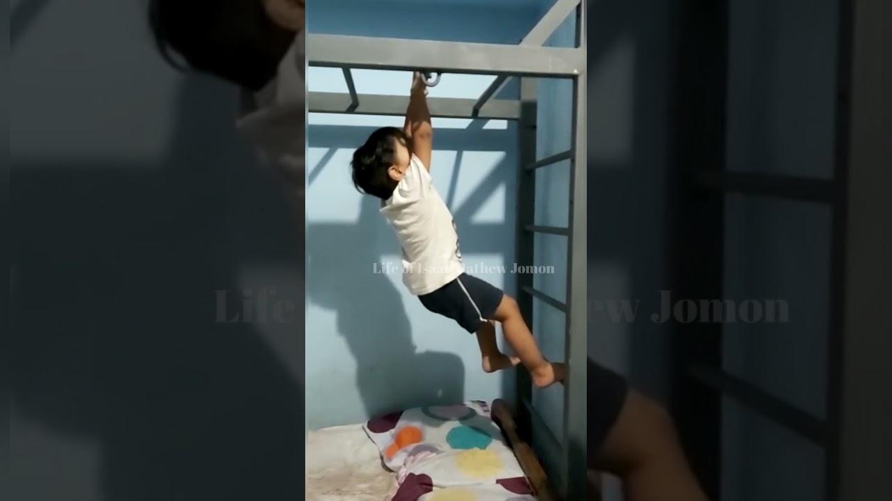 Kid learning to climb Monkey Ladder - 2 | #shorts | Monkey Ladder | Kids videos | Funny kids videos