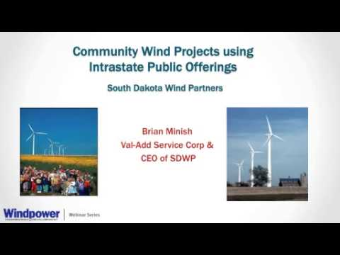Community Wind: Financing Options and Capital Markets (Webin