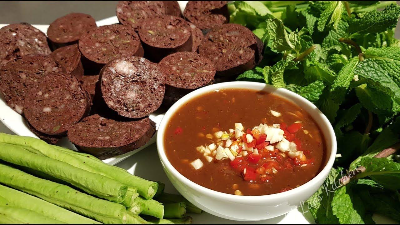 How To Make Laos Blood Sausages อั่วเลือด ອົ່ວເລືອດ