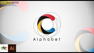 Adobe Illustrator | كيفية إنشاء بريد إلكتروني ج شعار باستخدام النسبة الذهبية ( تصميم شعار البرنامج التعليمي )