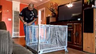 Custom Fold Up Dog Crate On Wheels