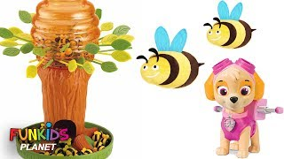 Learning Colors Video For Kids: Paw Patrol Skye Chase & Pups Play Honey Bee Tree Game