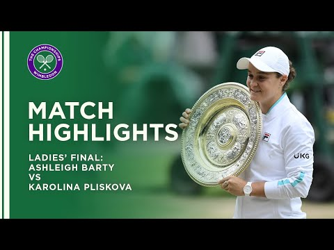 Ashleigh Barty vs Karolina Pliskova | Ladies' Final Highlights | Wimbledon 2021