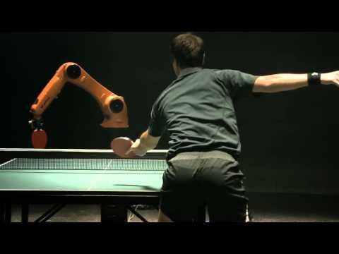 Timo Boll vs  KUKA Robot  ( man vs machine table tennis )