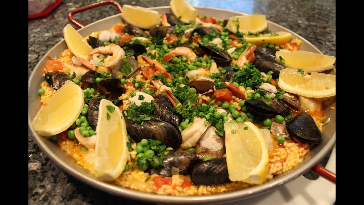Seafood paella recipe orsararecipes youtube forumfinder Image collections