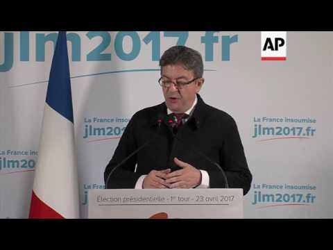 Melenchon refuses to concede until final results