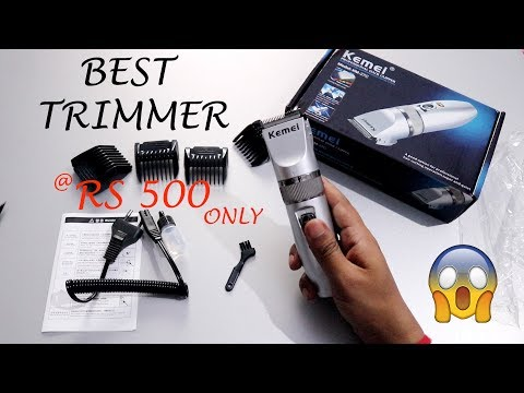 Kemei Trimmer Unboxing KM-27C Rechargeable Professional