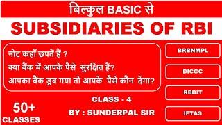 CLASS- 4  SUBSIDIARIES OF RBI  SSC CGL HSSC SBI PO 2020 