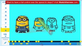 Learn How to draw Minions from Despicable Me 2