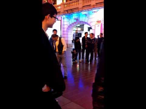 Nanjing Lu, Shanghai, Dancing in the street