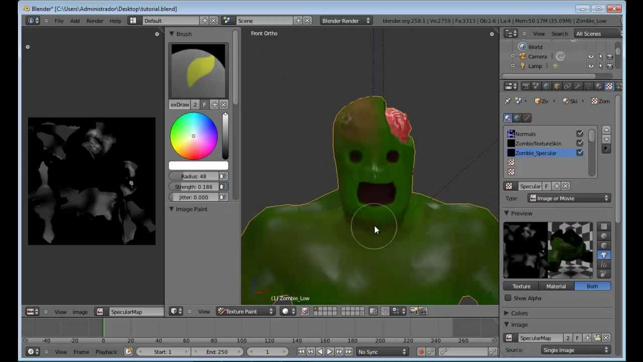 Blender paint bump map
