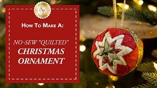 "No-Sew ""Quilted"" Christmas Ornament 
