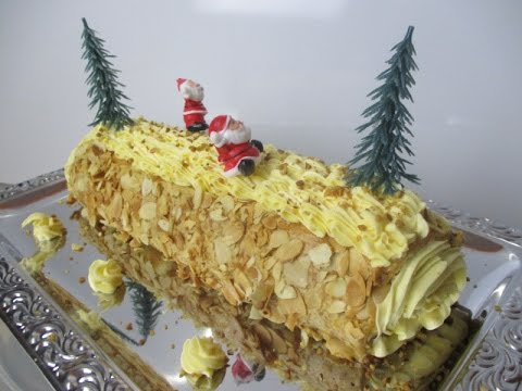B che de no l fa on moka recette b che cr me au beurre caf youtube - Decoration pour buche de noel maison ...