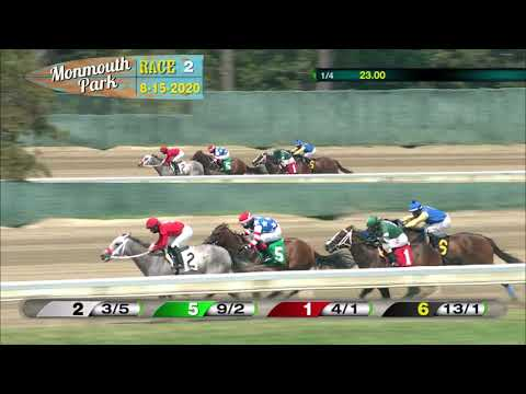 video thumbnail for MONMOUTH PARK 08-15-20 RACE 2
