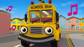 Wheels On The School Bus | Nursery Rhymes & Kids Songs | Gecko's Garage | Bus Videos For Kids