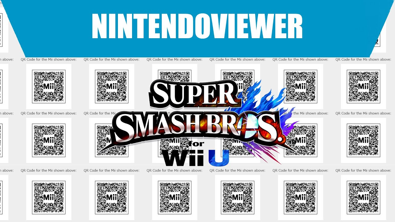 Gameplay super smash bros for wii u qr code mii youtube